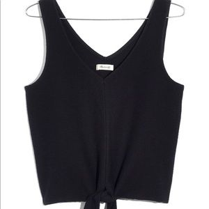 Madewell texture and thread tie tank